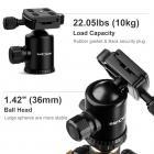 TC2534 Carbon Statief Monopod Set voor DSLR-Camera 66inch 168cm Professioneel Reisstatief